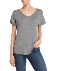 Pink Rose - V-neck Slouchy Tee - Lyst
