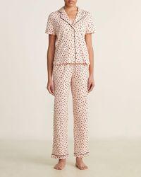 Madewell Two-piece Contrast Heart Pajama Set - Pink
