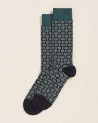 Ted Baker Allover Pattern Socks - Green