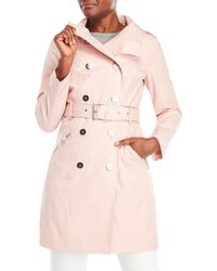 Guess - Double-breasted Hooded Trench - Lyst