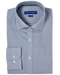 Vince Camuto - Diamond Print Comfort Stretch Slim Fit Dress Shirt - Lyst