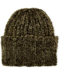 Collection 18 - Chenille Super Cuff Beanie - Lyst