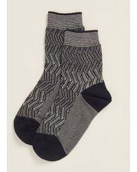 Missoni Black Vertical-lined Shaded Socks