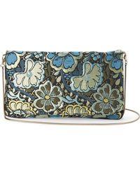 Steve Madden | Blue Brocade Crossbody Bag | Lyst