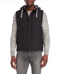 Weatherproof - Hooded Puffer Vest - Lyst
