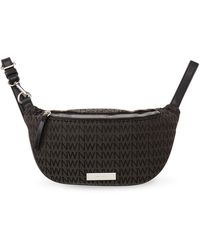 Nine West Black Isabell Mini Monogram Fanny Pack