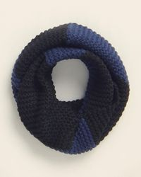 UGG Two-color Knit Infinity Scarf - Blue