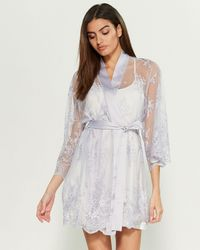 Rya Collection Darling Lace Cover-up Robe - Multicolor