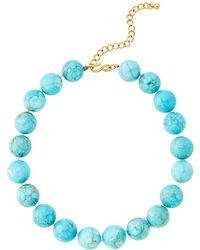 Kenneth Jay Lane - Turquoise-tone Matrix Balls Necklace - Lyst