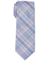 Kenneth Cole - Parker Plaid Slim Tie - Lyst
