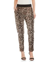 GAUDI - Leopard Print Embellished Cotton Pants - Lyst
