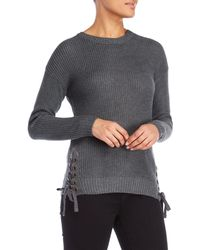 Love Tree - Laced-up Sweater - Lyst