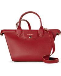 Longchamp - Red Le Pliage Heritage Medium Satchel - Lyst