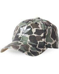 adidas - Forest Camo Logo Relaxed Baseball Cap - Lyst