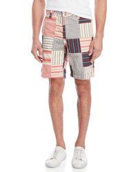 Tailor Vintage - Stripe Patchwork Shorts - Lyst