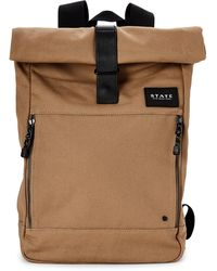 State Whiskey Colby Laptop Roll-top Backpack - Brown