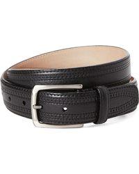 Trafalgar - Hatcher Leather Belt - Lyst