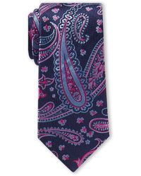 Ted Baker Large Paisley Tie - Blue