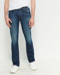 PAIGE Harlan Federal Slim Jeans - Blue
