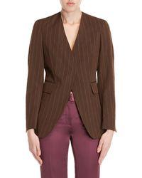Ter Et Bantine - Brown Striped Wrinkled Jacket - Lyst