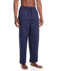Tommy Hilfiger Dark Navy Logo Print Sleepwear Pants - Blue