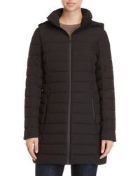 Guess - Packable Hooded Coat - Lyst