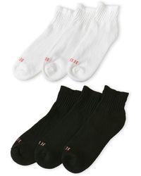 Hue - 6-Pack Quarter Top Sports Socks - Lyst
