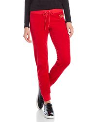 Juicy Couture | Drawstring Velour Jogger Pants | Lyst