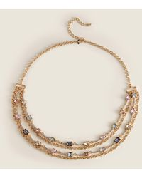 Catherine Stein Gold-tone Crystal Layered Necklace - Metallic