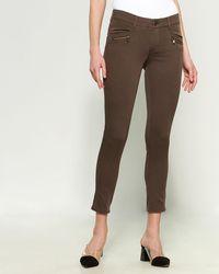 Democracy Ab Tech Zipper Pants - Brown