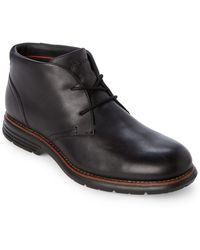 Rockport - Black Leather Chukka Boots - Lyst