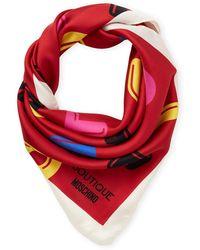 Moschino - Printed Silk Scarf - Lyst