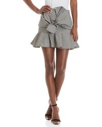 Do+Be Collection | Mock Tie Gingham Mini Skirt | Lyst