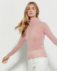 Peserico Pink Turtleneck Sweater