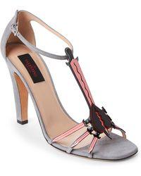 Valentino - Love Blade Suede Sandals - Lyst