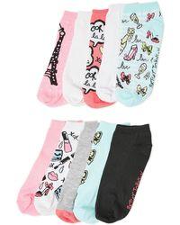 Betsey Johnson - 10-pack Low-cut Socks - Lyst