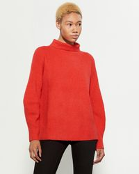 French Connection - Red Flossy Turtleneck Sweater - Lyst