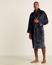 Daniel Buchler Square Jacquard Robe - Blue