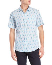 Steven Alan - Printed Short Sleeve Shirt - Lyst