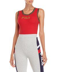 Fila - Jessa Rib-knit Bodysuit - Lyst