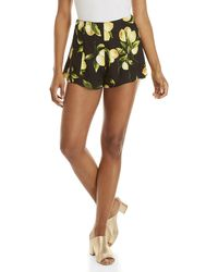 Honey Punch - Lemon Print High-waisted Shorts - Lyst