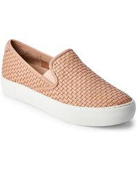 ed444a771c00 J Slides - Blush Alyssa Woven Slip On Sneakers - Lyst