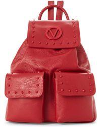 Valentino By Mario Valentino - Lipstick Red Simeon Preciosa Studded Backpack - Lyst