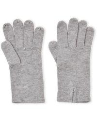 Badgley Mischka Solid Knit Gloves - Gray