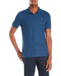 J.Lindeberg - Logo Embroidered Slim Fit Polo - Lyst