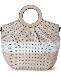 9a40af69c1 Moda Luxe - Grey Marguerite Perforated Tote - Lyst