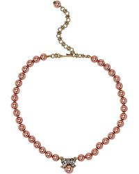 Heidi Daus - Exquisite Harmony Mini Bow Faux Pearl Necklace - Lyst
