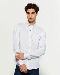 W.r.k. Button-down Open Diamond Long Sleeve Sport Shirt - White