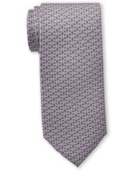 Michael Kors Gray Outlined Cube Silk Tie