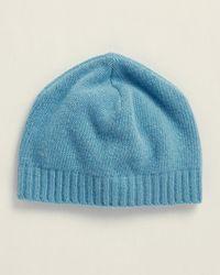 Portolano Cashmere Knit Beanie - Blue